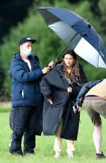 MICHELLE KEEGAN on the Set of Brassic TV Show in Manchester 07/30/2021