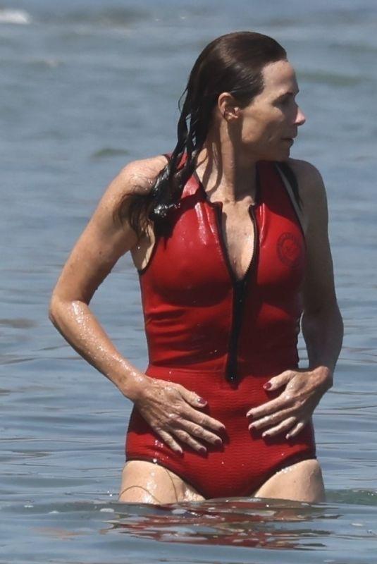MINNIE DRIVER in Swimsuit at a Beach in Malibu 07/07/2021