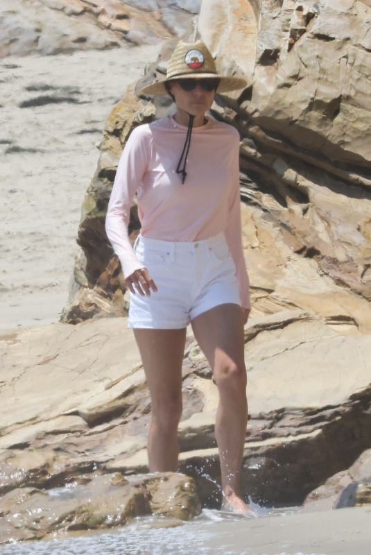 MINNIE DRIVER Out on the Beach in Malibu 07/16/2021