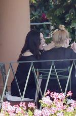 MONICA BELLUCCI Out for Lunch in Portofino 07/02/2021