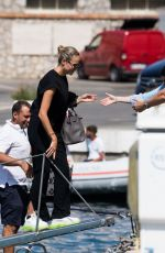 NATASHA POLY Arrives in Capri at UNICEF Italia and LuisaViaRoma Summer Gala 07/30/2021