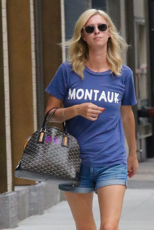 NICKY HILTON in Denim Shorts Out in New York 07/14/2021