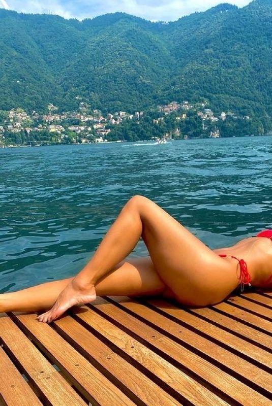 NICOLE SCHERZINGER in a Red Bikini – Instagram Photos 07/25/2021