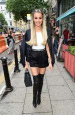 OLIVIA ATTWOOD Arrives at Yours Restaurant in Manchester 07/03/2021
