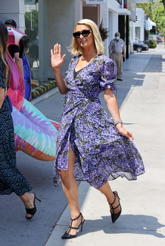 PARIS HILTON on the Set of Paris In Love at Kitson on Robertson Blvd in West Hollywood 07/12/2021
