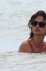 PENELOPE CRUZ in Swimsuit at a Beach in Fregene 07/20/2021
