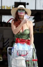 PHOEBE PRICE at a CVS Parking Lot in Los Angeles 07/27/2021