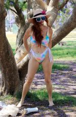 PHOEBE PRICE in Bikini Out at a Park in Los Angeles 07/26/2021