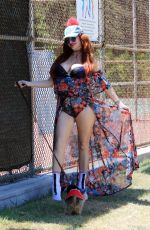 PHOEBE PRICE Out at a Park in Los Angeles 07/12/2021