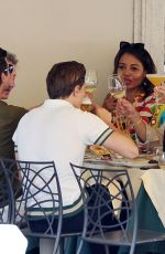 PIXIE LOTT and Oliver Cheshire Out for Lunch with Mark-Francis Vandelli and EMMA WEYMOUTH in Rome 07/24/2021