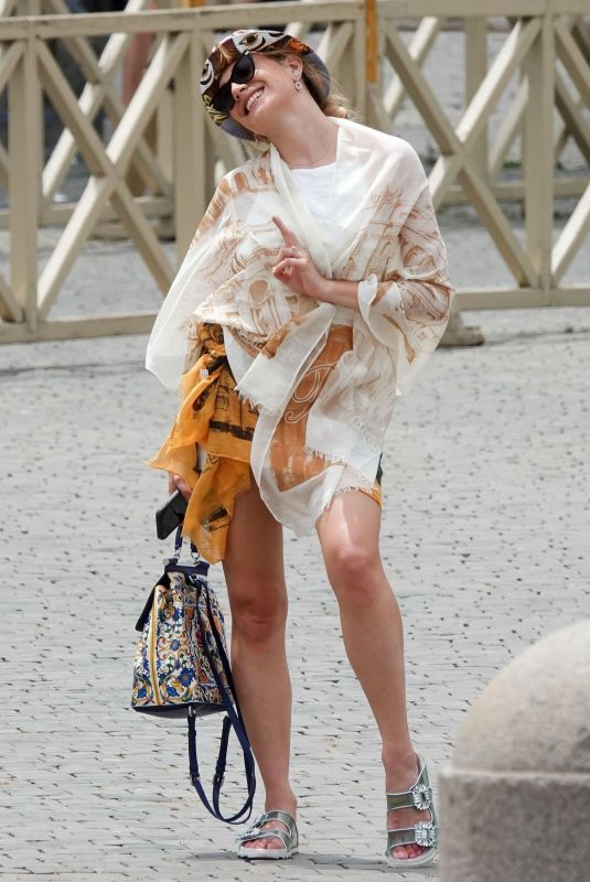 PIXIE LOTT Out and About in Vatican 07/29/2021