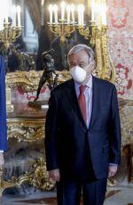 QUENN LETIZIA OF SPAIN at a Lunch with UN Secretary-General Antonio Guterres in Madrid 07/02/2021