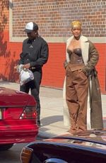 RIHANNA and A$AP Rocky at a Photoshoot in New York 07/10/2021