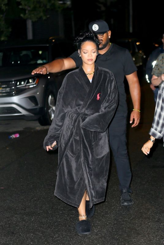 RIHANNA and A$AP Rocky Night Out in New York 07/11/2021