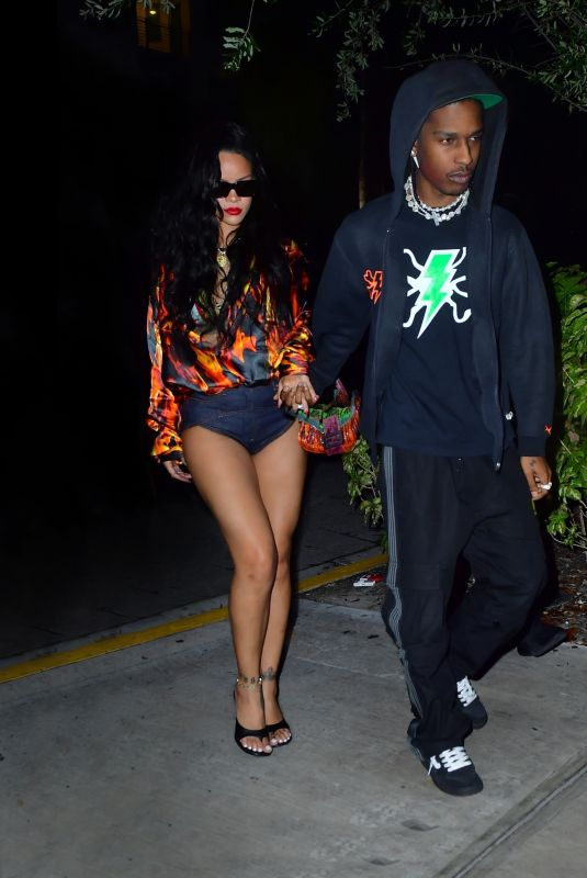 RIHANNA and Asap Rocky at Date Night in Miami 07/28/2021