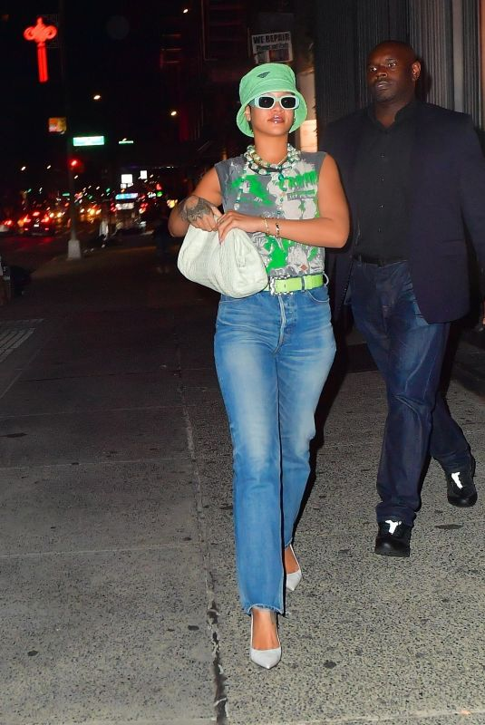RIHANNA and ASAP Rocky Night Out in New York 07/07/2021