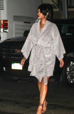 RIHANNA on the Set of ASAP Rocky Music Video in Bronx 07/10/2021