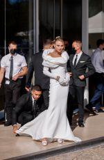 ROSE BERTRAM Leaves Hotel Martinez at 74th Cannes Film Festival 07/13/2021
