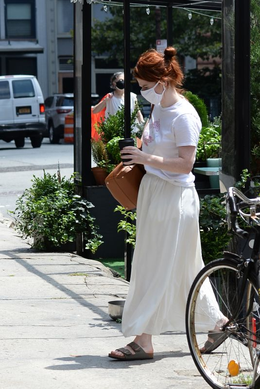 ROSE LESLIE Out for Coffee in New York 07/24/2021