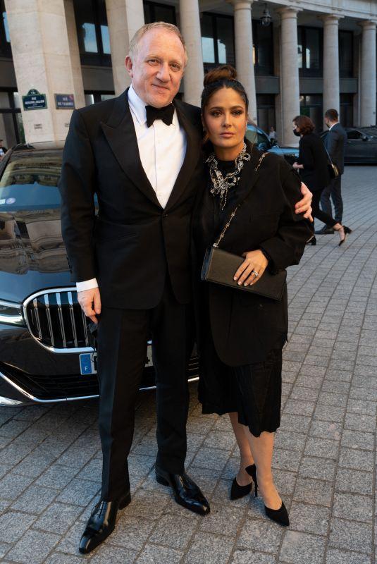 SALMA HAYEK Arrives at Dinner of Balenciaga Fashion House in Paris 07/07/2021