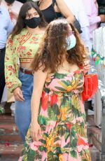 SALMA HAYEK at The Ivy in Beverly Hills 07/18/2021