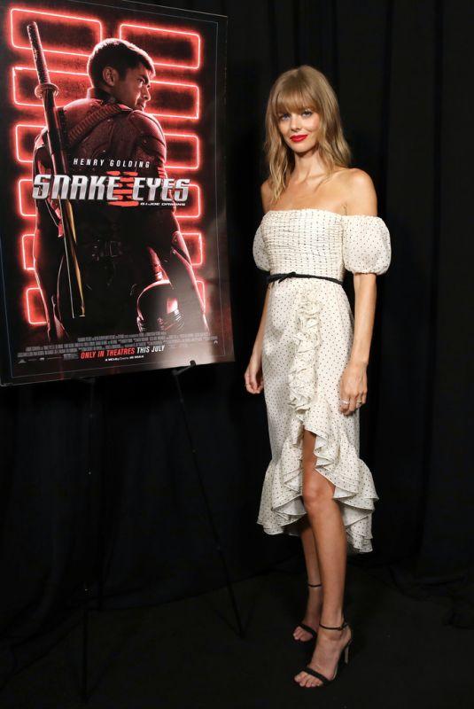 SAMARA WEAVING at Snake Eyes: G.I. Joe Origins Comic-Con Fans First LA Screening in Hollywood 07/21/2021