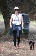 SARAH SILVERMAN Out with Her Dog in Los Feliz 07/26/2021