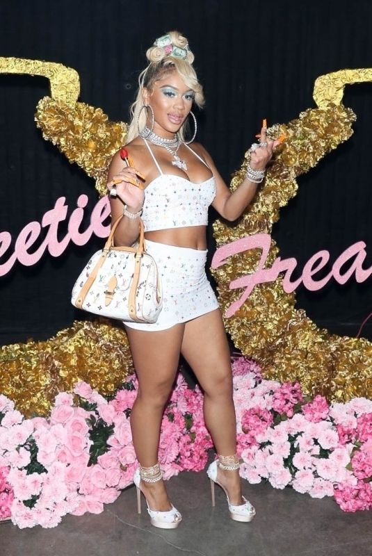 SAWEETIE Celebrates Her 28th Birthday in Los Angeles 07/02/2021
