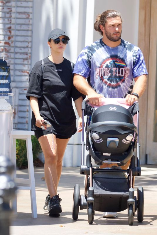 SCHEANA SHAY and Brock Davies at The Grove in Los Angeles 07/13/2021