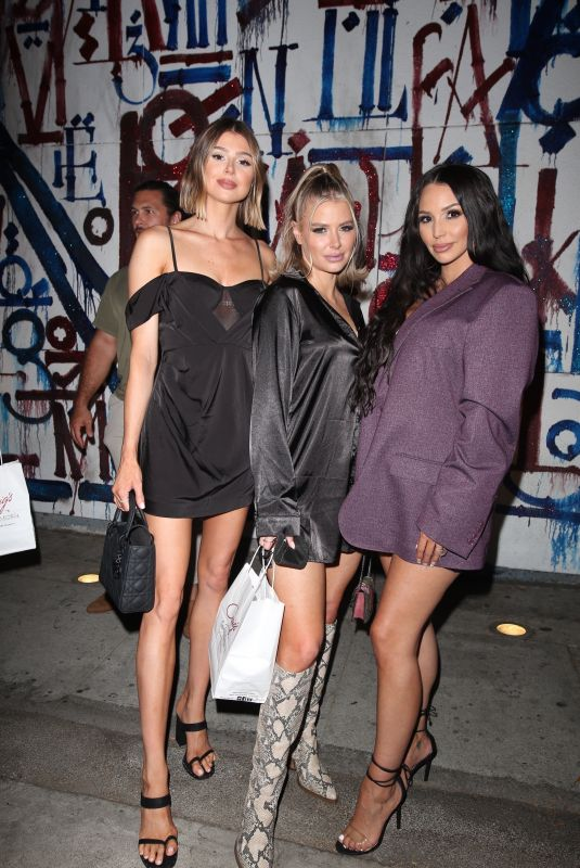 SCHEANA SHAY, STASSI SCHRODER and KRISTEN DOUTE at Vanderpump Rules cast Dine at Craig's in West Hollywood 07/20/2021