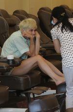 SELMA BLAIR at a Nail Salon in Studio City 06/16/2021