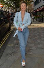 SHARON GAFFKA Leaves Covent Garden in London 07/27/2021
