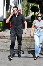 SOFIA RICHIE and Elliot Grainge Out on Melrose Place in West Hollywood 07/30/2021