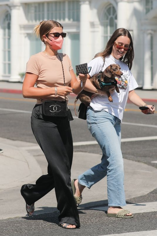 SOFIA RICHIE Out Shopping with a Friend at Saint Laurent in Beverly Hills 07/07/2021