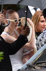 SOPHIE TURNER and Joe Jonas Leaves Their Hotel at Paris Fashion Week 07/06/2021