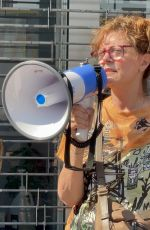 SUSAN SARANDON at Medicare for All Rally at Alexandria Ocasio-Cortez Office in Bronx 07/26/2021