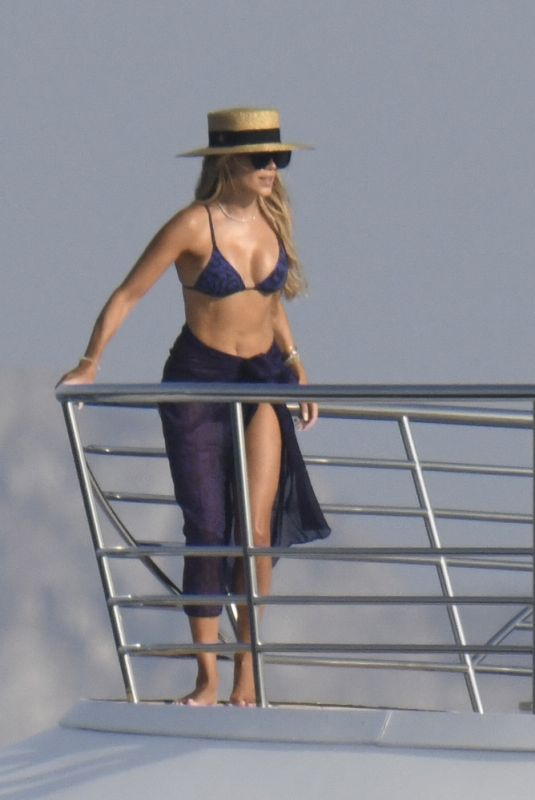 SYLIVE MIES in Bikini at a Yacht in Porto Cervo 07/28/2021
