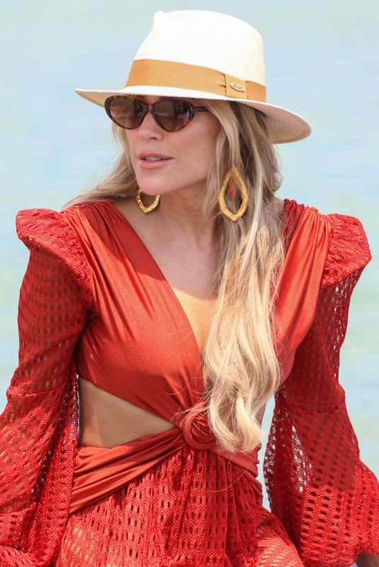 SYLVIE MEIS at a Boat in Saint Tropez 07/21/2021