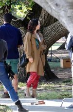 TAMMIN SURSOK and MADELEINE WEST on the Set of Love and Penguins on the Gold Coast 07/30/2021