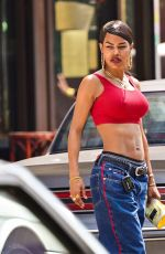 TEYANA TAYLOR on the Set of A Thousand and One in Harlem 07/27/2021