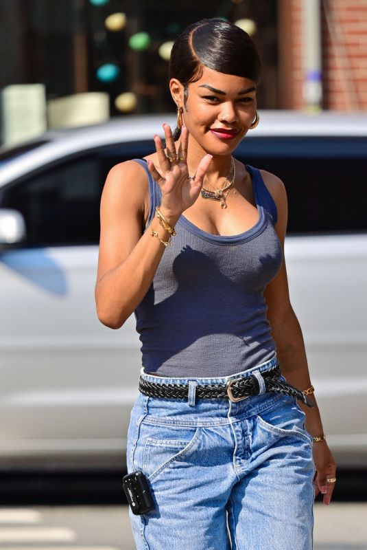 TEYANA TAYLOR on the Set of A Thousand and One in New York 07/26/2021