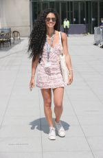 VICK HOPE Arrives at BBC Radio 1 in London 07/19/2021