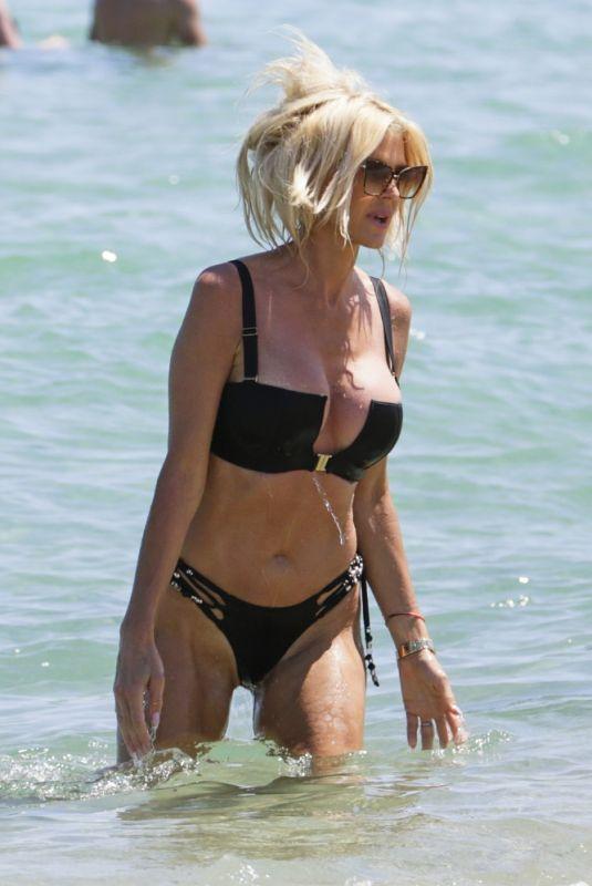VICTORIA SILVSTEDT in Bikini at Byblos Beach in Saint Tropez 07/20/2021