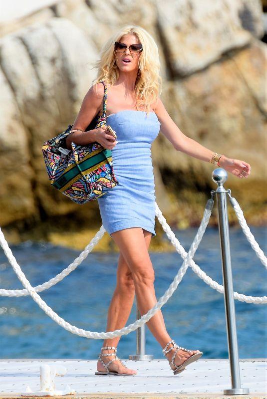 VICTORIA SILVSTEDT Leave Eden Roc Hotel in Antibes 07/04/2021