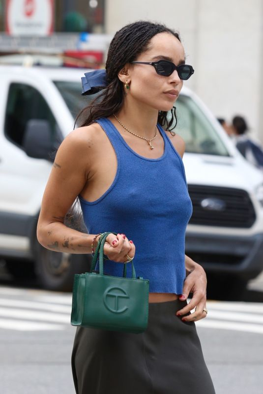 ZOE KRAVITZ Out for Lunch in New York 07/25/2021