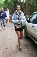 ALESSANDRA AMBROSIO Out with Friends in Trancoso 08/02/2021