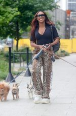 ALEXANDRA BURKE Out with Her Dogs in London 08/04/2021