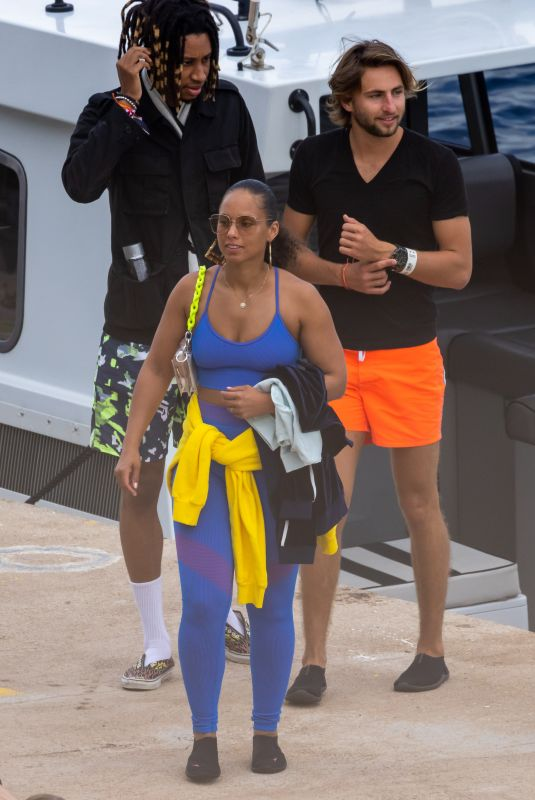 ALICIA KEYS and Swizz Beatz on Vacation in Calvi 08/04/2021