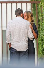 ALICIA SILVESTER Kissing a Mystery Man Out in West Hollywood 08/17/2021