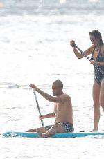 ALIZE LIM in Swimsuit and Tony Parker at a Yacht in France 08/20/2021